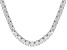 White Zirconia From Swarovski ® Platinum Over Sterling Silver Tennis Necklace 57.50ctw