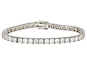 White Zirconia From Swarovski ® Platinum Over Sterling Silver Tennis Bracelet 15.88ctw