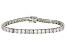 White Zirconia From Swarovski ® Platinum Over Sterling Silver Tennis Bracelet 26.00ctw