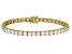 White Zirconia From Swarovski ® 18K Yellow Gold Over Silver Tennis Bracelet 26.00ctw