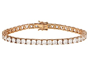 White Zirconia From Swarovski ® 18K Rose Gold Over Sterling Silver Tennis Bracelet 26.00ctw