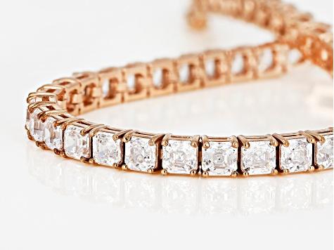 White Zirconia From Swarovski 18k Rose Gold Over Sterling Silver Tennis Bracelet 26 00ctw