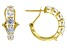 White Zirconia From Swarovski ® 18K Yellow Gold Over Sterling Silver Earrings 3.22ctw
