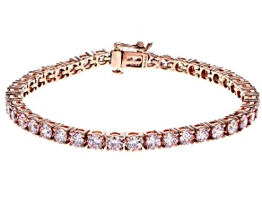 Swarovski ® Fancy Morganite Color Zirconia 18K Rose Gold Over Sterling Silver Bracelet 19.32CTW