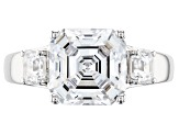 Swarovski ® Imperial Mosaic White Cubic Zirconia Rhodium Over Sterling Silver Ring 7.0ctw
