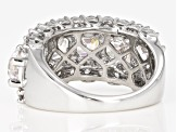 Zirconia From Swarovski ® Imperial Mosaic And Round Rhodium Over Silver Ring