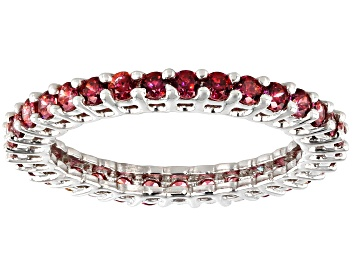 Picture of Red Zirconia From Swarovski ® Rhodium Over Sterling Silver Ring 2.00ctw