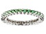 Fancy Green Zirconia From Swarovski ® Rhodium Over Sterling Silver Ring 2.00ctw