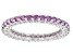 Fancy Purple Zirconia From Swarovski ® Rhodium Over Sterling Silver Ring 2.00ctw