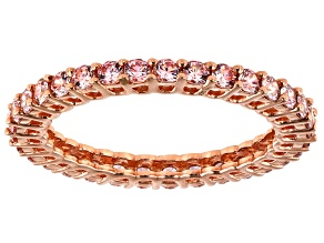 Fancy Morganite Color Zirconia From Swarovski ® 18k Rose Gold Over Sterling Silver Ring 1.95ctw