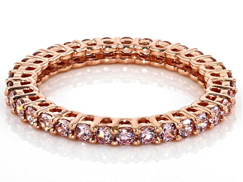 Fancy Morganite Colored Zirconia From Swarovski ® 18k Yellow Gold Over Sterling Silver Ring 1.95ctw