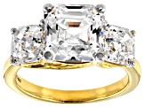 Zirconia From Swaovski ® Imperial Mosaic 18k Yellow Gold Over Sterling Silver Ring 10.47ctw