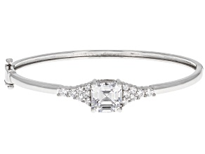 Zirconia From Swarovski ® Imperial Mosaic And Round Rhodium Over Sterling Silver Bracelet