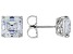 Zirconia From Swarovski ® Imperial Mosaic Rhodium Over Sterling Silver Earrings 9.05ctw