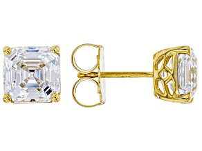 Zirconia From Swarovski ® Imperial Mosaic 18k Yellow Gold Over Sterling Silver Earrings 9.05ctw