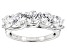 Heritage Cut White Zirconia From Swarovski ® Rhodium Over Sterling Silver Ring 4.40ctw