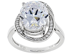 White Zirconia from Swarovski ® Rhodium Over Sterling Silver Ring 8.89ctw