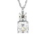 White Cubic Zirconia from Swarovski ® Rhodium Over Sterling Silver Pendant With Chain 8.55ctw
