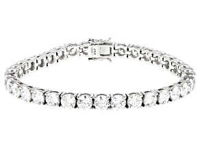 White Cubic Zirconia From Swarovski ® Platinum Over Sterling Silver Tennis Bracelet 32.94ctw
