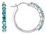 Mint Zirconia From Swarovski ® Rhodium Over Sterling Silver Earrings 2.60ctw