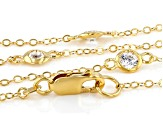 White Zirconia From Swarovski ® 18k Yellow Gold Over Sterling Silver Necklace 7.29ctw