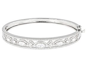 White Zirconia From Swarovski ® Rhodium Over Sterling Silver Bracelet 6.38ctw