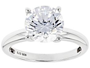 White Zirconia From Swarovski ® Platinum Over Sterling Silver Ring 4.81ctw