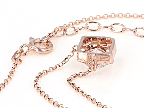 Anniversary Cut Zirconia From Swarovski(R) 18k Rose Gold Over Sterling Silver Necklace 1.97ctw