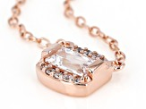 Daniel's Cut Zirconia From Swarovski(R) 18k Rose Gold Over Sterling Silver Necklace 0.47ctw