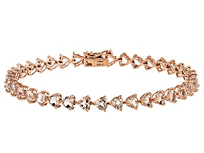 Pink Morganite 10k Rose Gold Bracelet 6.25ctw.