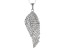 Cubic Zirconia Silver And 18k Rose Gold Over Silver Pendant With Chain 2.77ctw (1.33ctw DEW)
