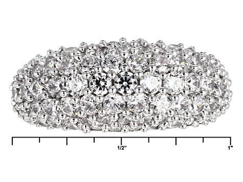 Cubic Zirconia Silver And 18k Rose Gold Over Silver Ring 6.60ctw (3.20ctw DEW)