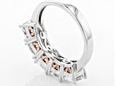 Cubic Zirconia Silver And 18k Rose Gold Over Silver Ring 5.38ctw (3.55ctw DEW)