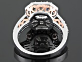 Cubic Zirconia Sterling Silver And 18k Rose Gold Over Sterling Silver Ring 5.43ctw