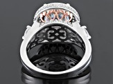 White Cubic Zirconia Sterling Silver And 18k Rose Gold Over Sterling Silver Ring 8.45ctw