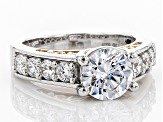 White Cubic Zirconia Rhodium & 18k Rose Gold Over Sterling Silver Ring 4.83ctw