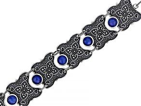 Quartz Doublet Sterling Silver Filigree Bracelet