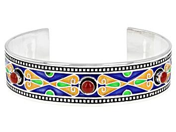 Picture of Enamel Sterling Silver Cuff Bracelet
