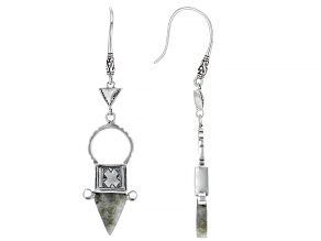 Labradorite Silver Tuareg Ingall Cross Dangle Earrings