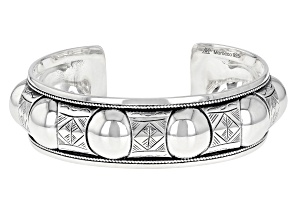 Oxidized Sterling Silver Berber Tribal Design Cuff Bracelet