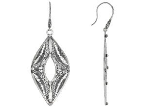 Oxidized Sterling Silver Berber Design Dangle Earrings