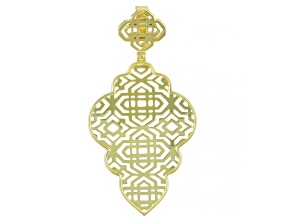 18k Gold Over Sterling Silver Filigree Open Design Enhancer