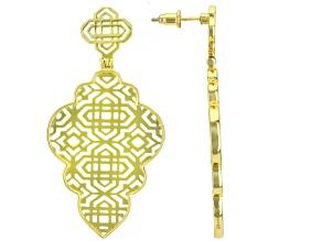 18k Gold Over Sterling Silver Filigree Open Design Earrings