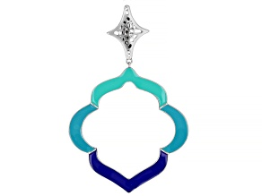 Multi-Color Enamel Sterling Silver Enhancer