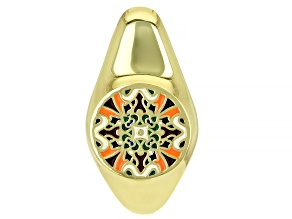 Multi-Color Enamel 18k Gold Over Silver Enhancer