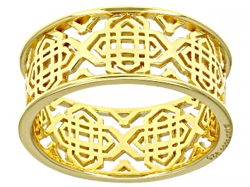 Picture of 18k Yellow Gold Over Sterling Silver Filigree Open Design Ring