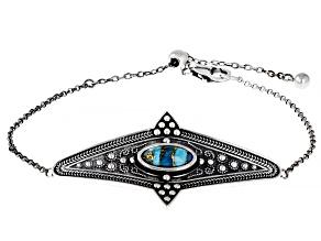 Oval Turquoise Sterling Silver Bracelet