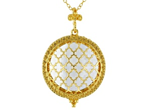 """Gold-Tone Magnifier Pendant With 23"""" Chain"""