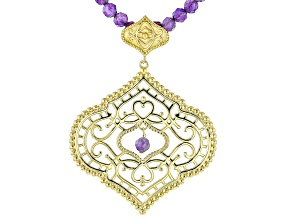 Amethyst 18k Yellow Gold Over Sterling Silver Necklace 0.40ctw