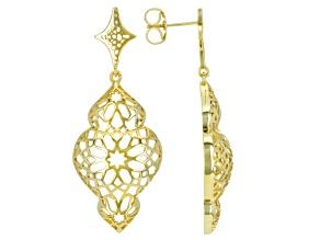 18k Gold Over Sterling Silver Earrings